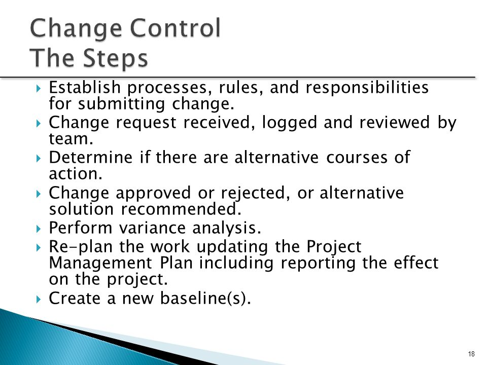 Change Control The Steps