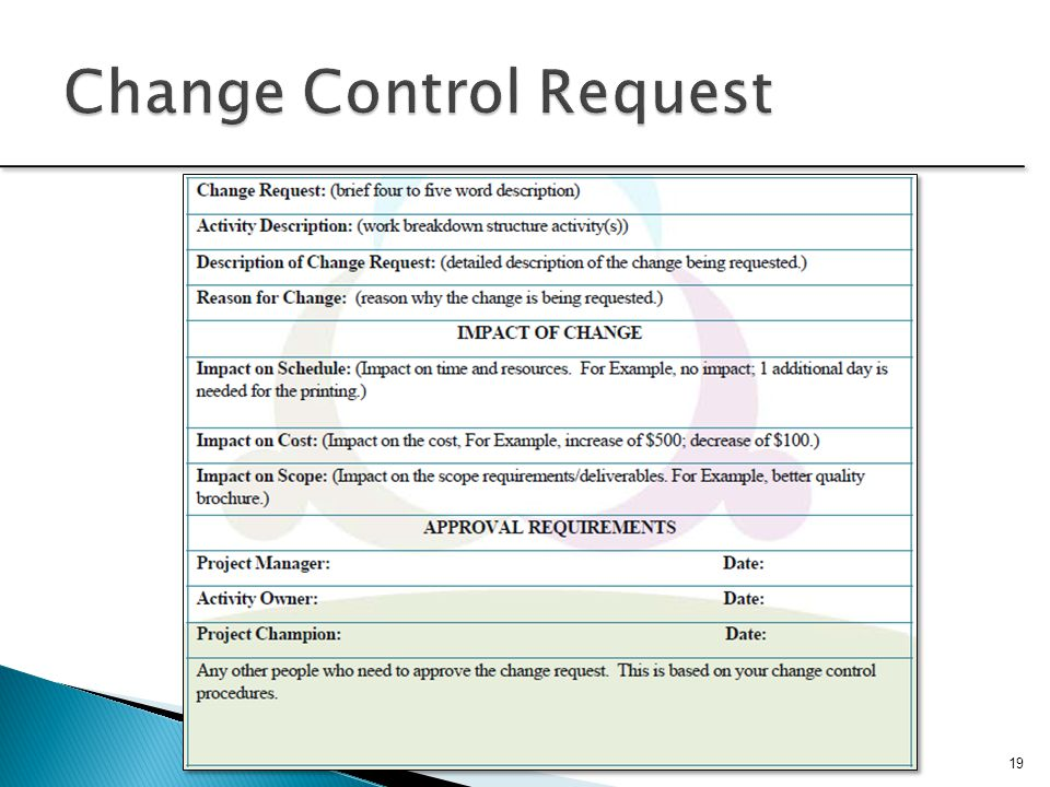 Change Control Request