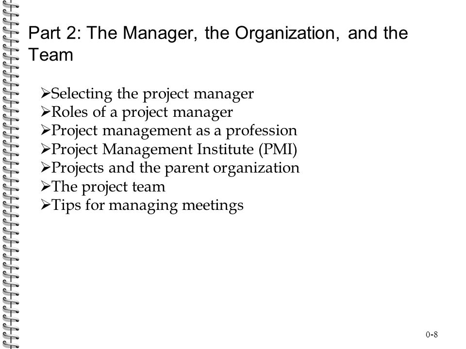 Part 2: The Manager, the Organization, and the Team