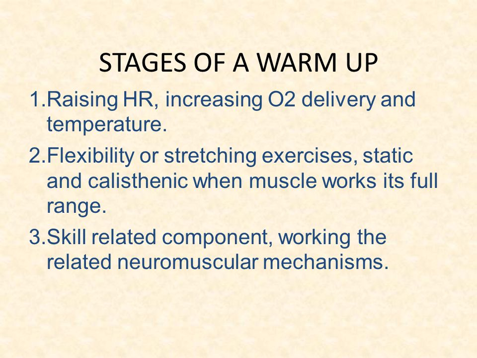 effect warm up skeletal muscle tissue Warm-up and stretching in the  14 physiological effects of warm-up tion of skeletal muscle is not  also, no effect was observed for soft-tissue or bone.