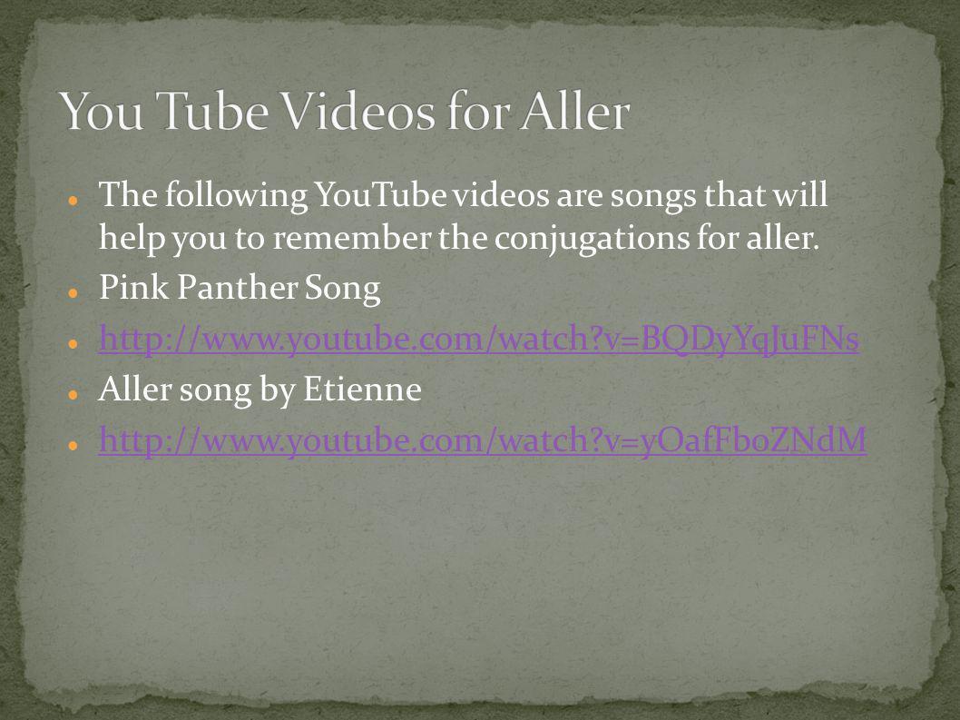 You Tube Videos for Aller