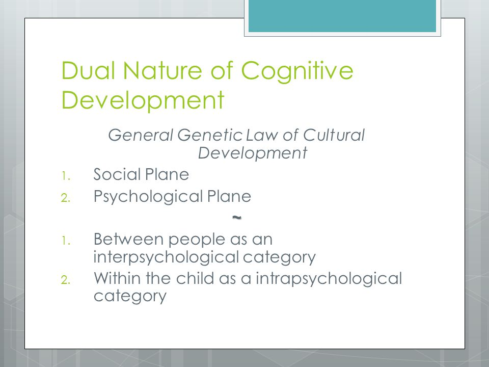 role of cognitive development Symbolism vygotskr- recent years have seen an increasing inter- est in the  study of children's play and its role in development this burgeoning interest has.
