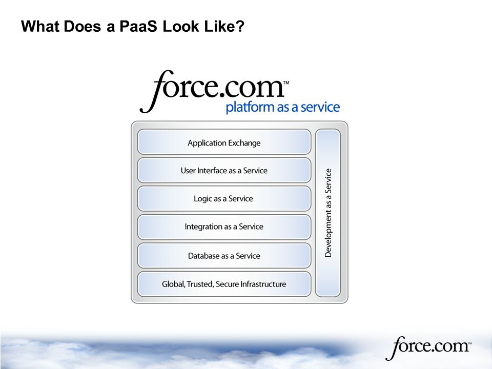 What Does a PaaS Look Like