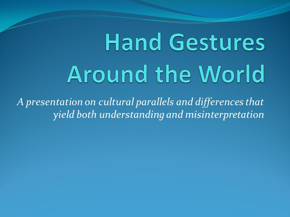 gestures around the world