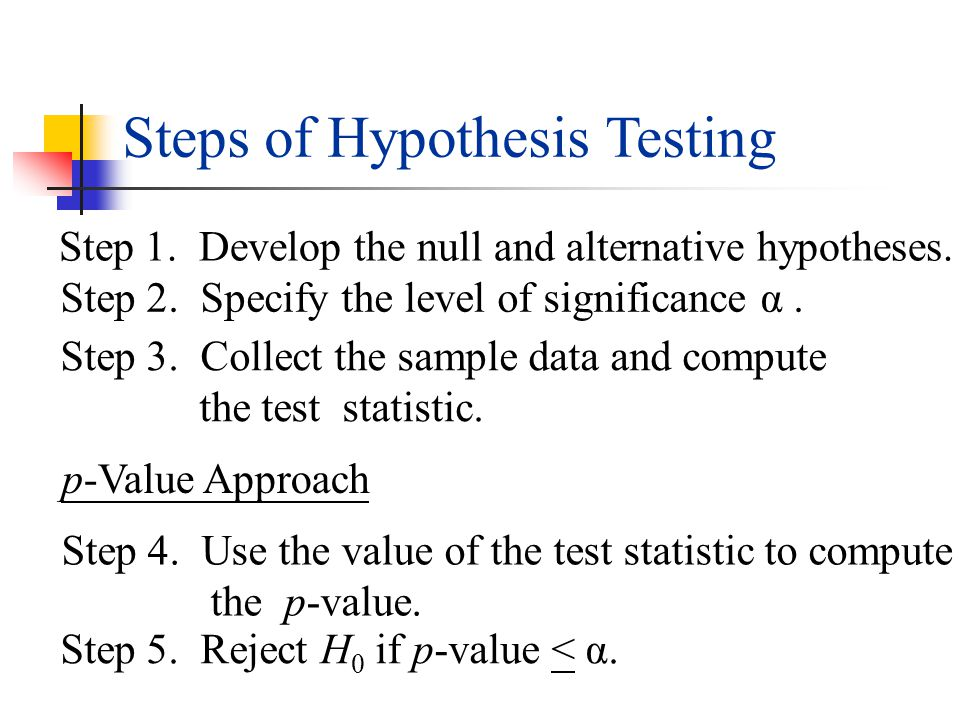 critical value approach to hypothesis testing A free online hypothesis testing calculator for population mean to find the hypothesis for the given population mean enter the sample mean, population mean, sample standard deviation, population size and the significance level to know the t score test value, p value and result of hypothesis.