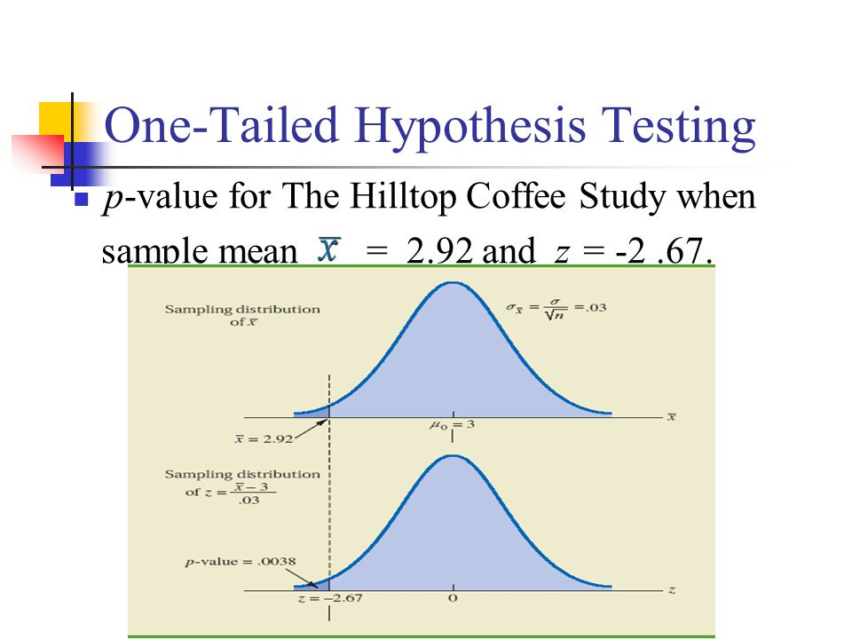 stats statistics and two tailed hypothesis test This test can be a two-tailed test or the f hypothesis test the f-test for equality of two variances is available in many general purpose statistical.