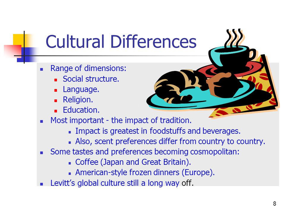 Effects of cultural differences