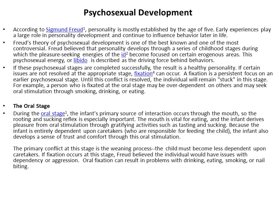 Sigmund freud 5 stages of psychosexual development sorry