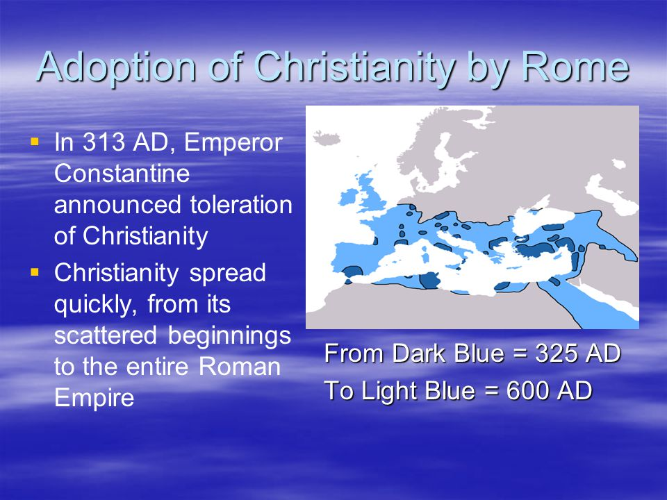 Adoption of Christianity by Rome