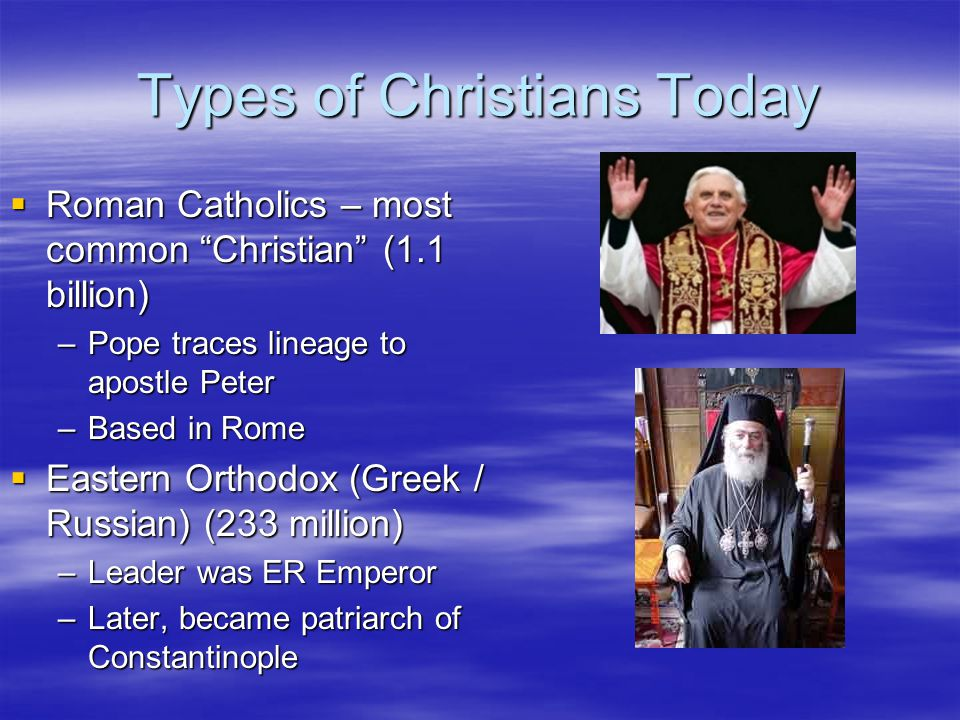 Types of Christians Today