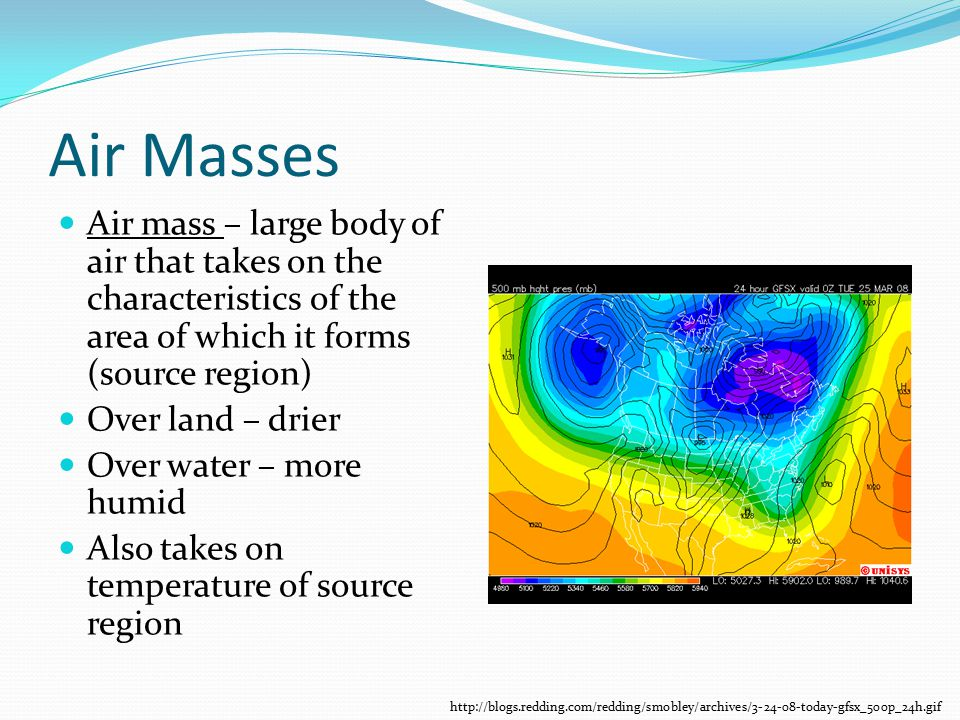 Air Masses And Weather Fronts Ppt Video Online Download