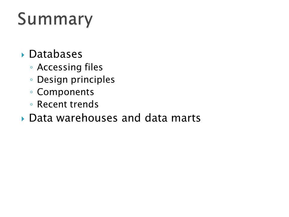 databases and data warehouses Database systems: introduction to databases and data warehouses [nenad jukic, susan vrbsky, svetlozar nestorov] on amazoncom free shipping on.