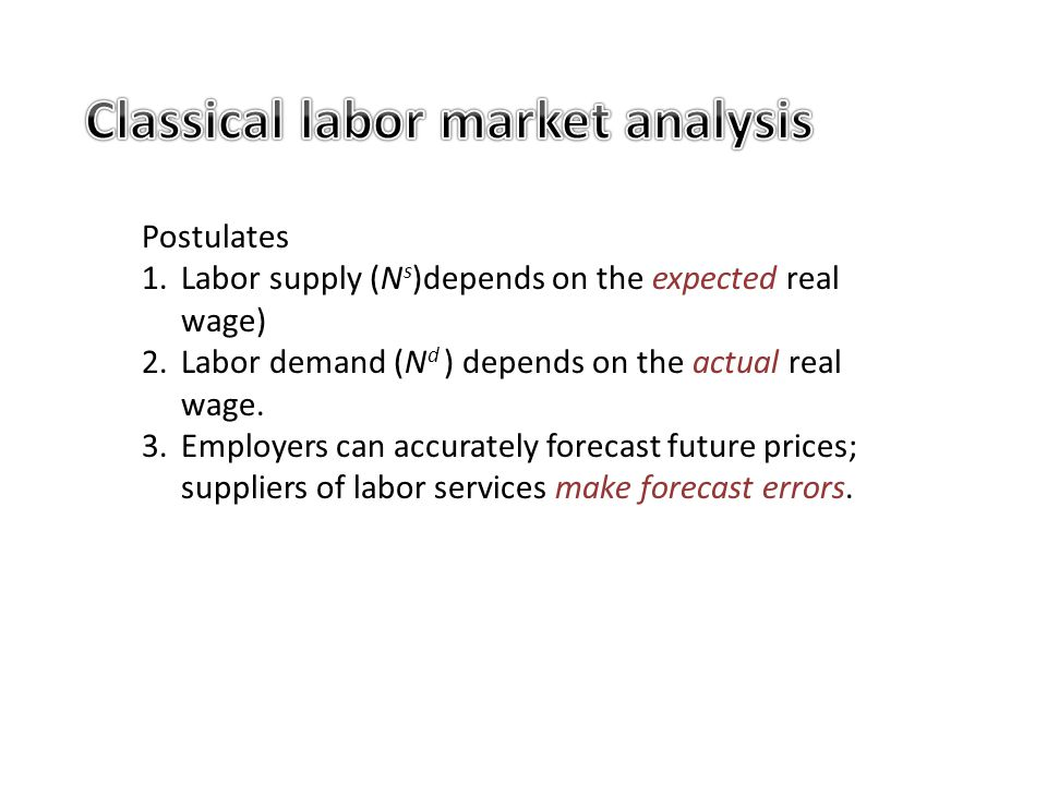 Classical labor market analysis