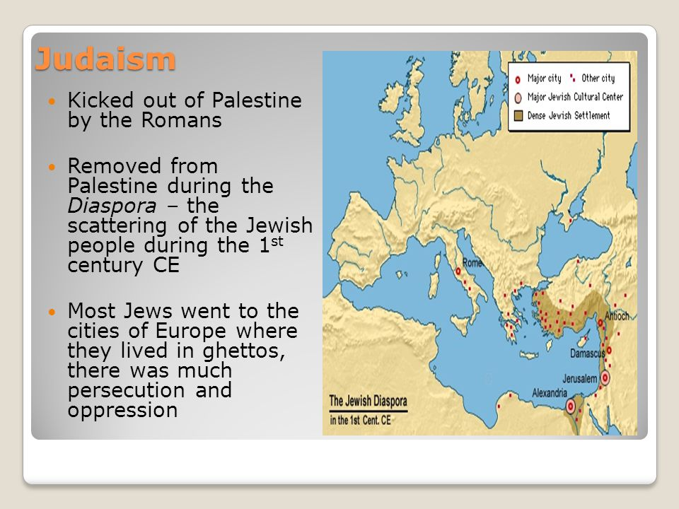 Judaism Kicked out of Palestine by the Romans