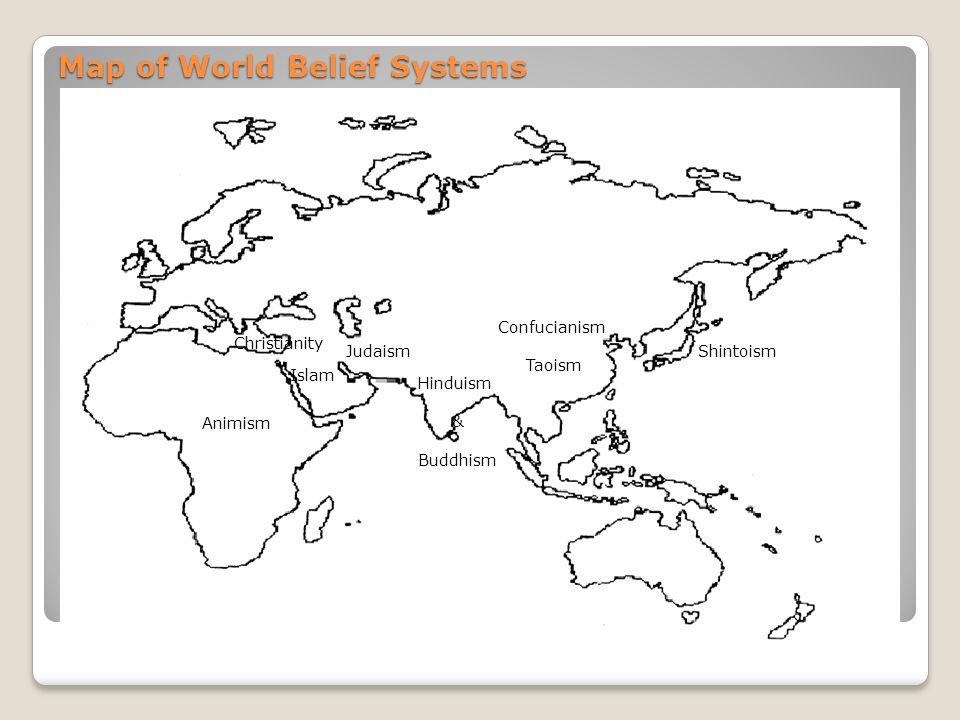 Map of World Belief Systems