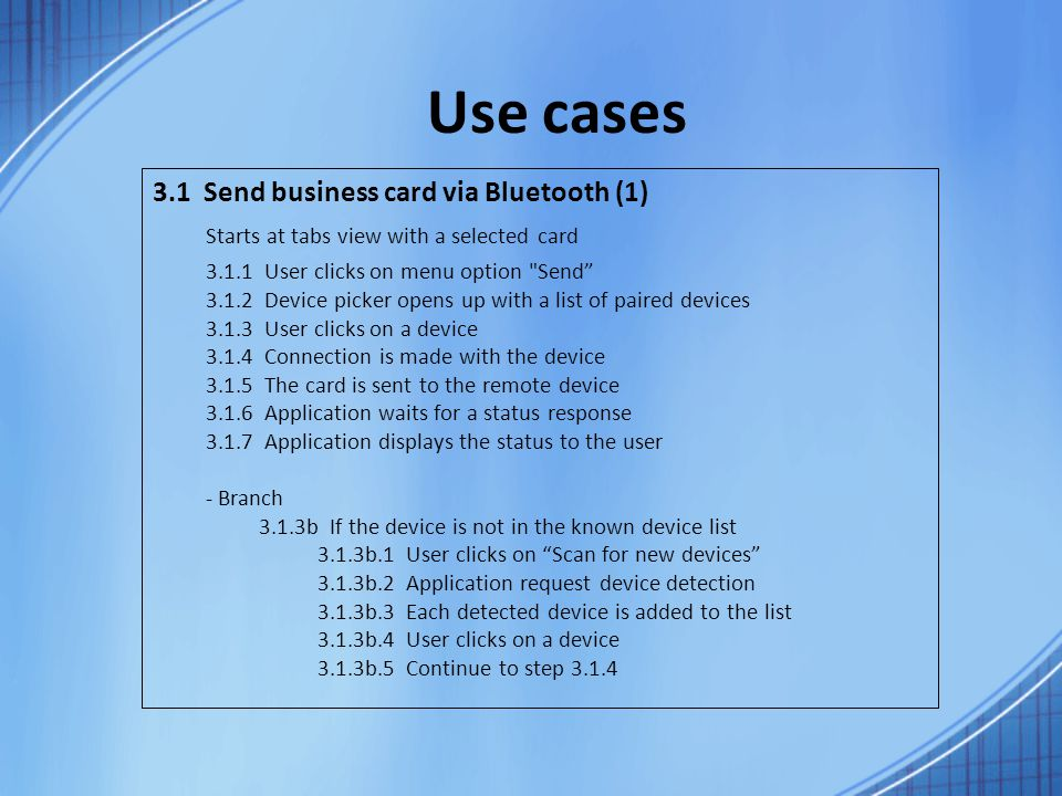 Business Cards Application for Android Final presentation - ppt ...