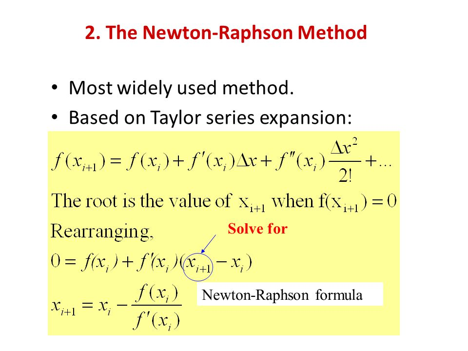 2. The Newton-Raphson Method