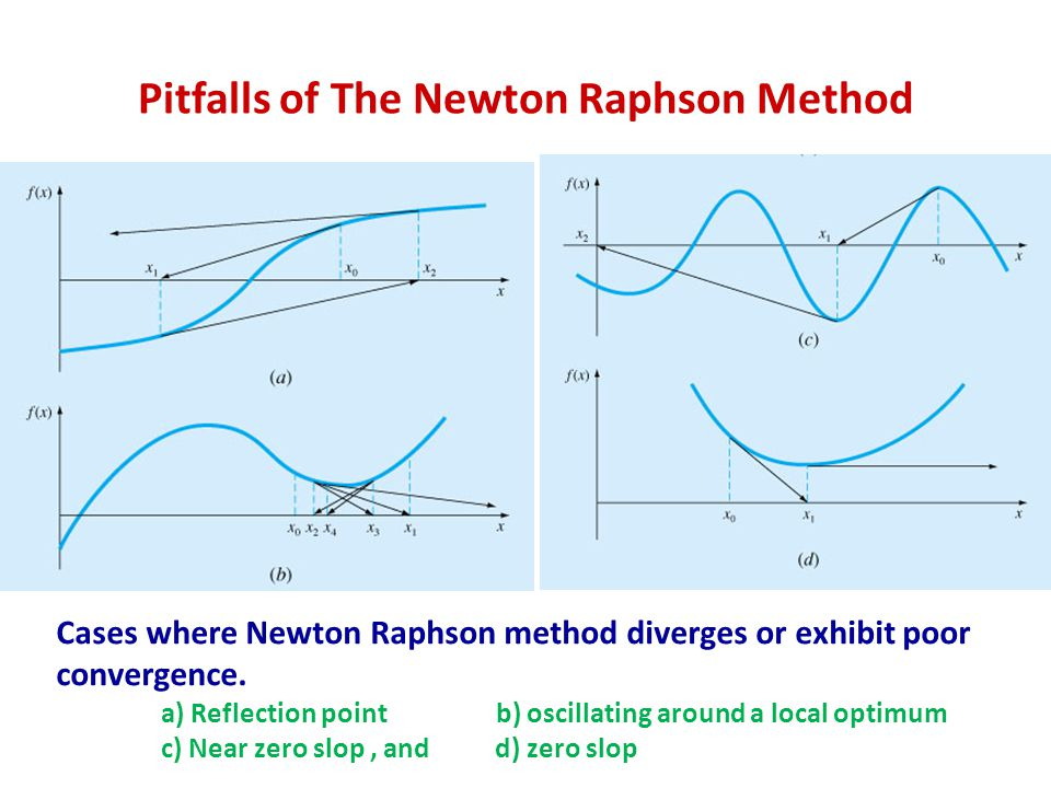 Pitfalls of The Newton Raphson Method