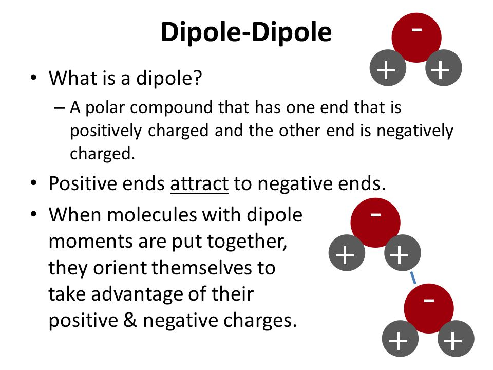 Dipole-Dipole What is a dipole