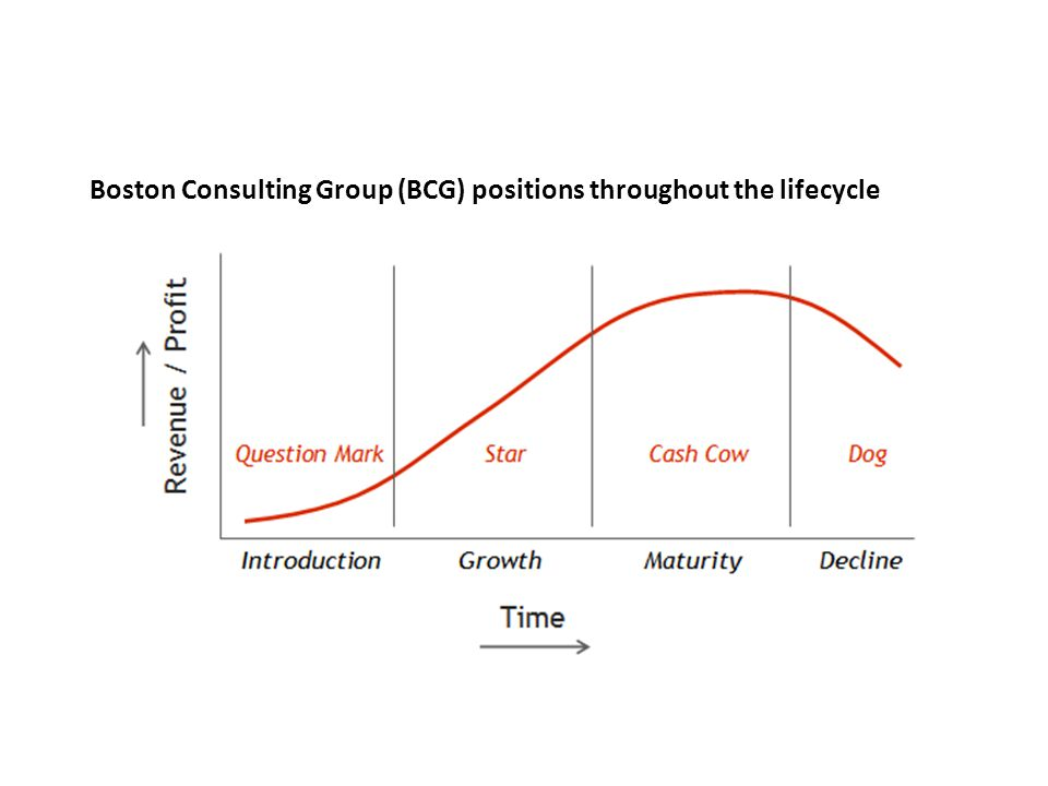 Boston Consulting Group (BCG) positions throughout the lifecycle