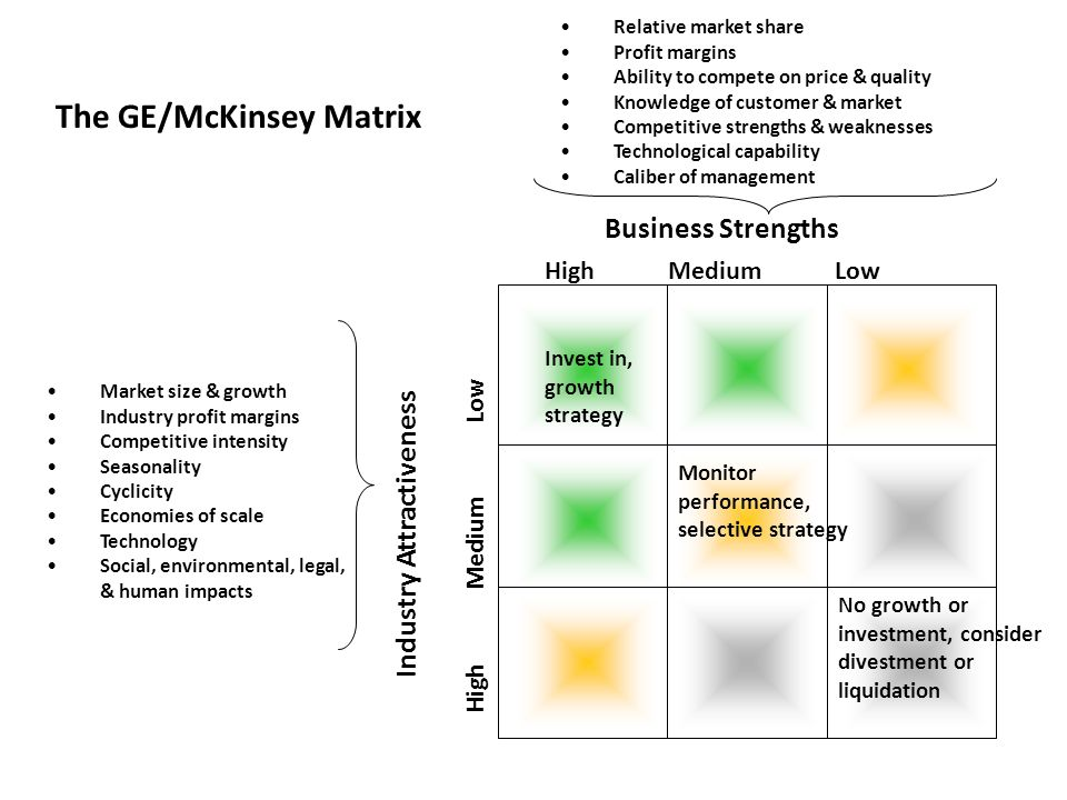 The GE/McKinsey Matrix