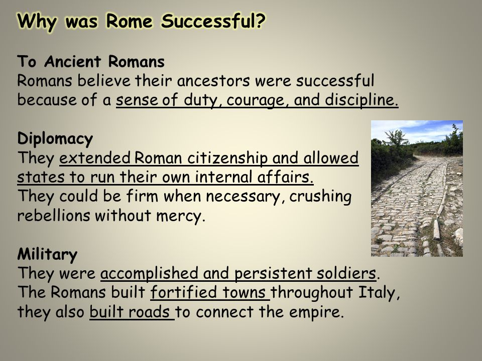 the impact the romans made on Originally answered: what was julius caesar's impact on rome julius ceasar  and the  pompey stayed in rome and the senate made overtures to pompey.