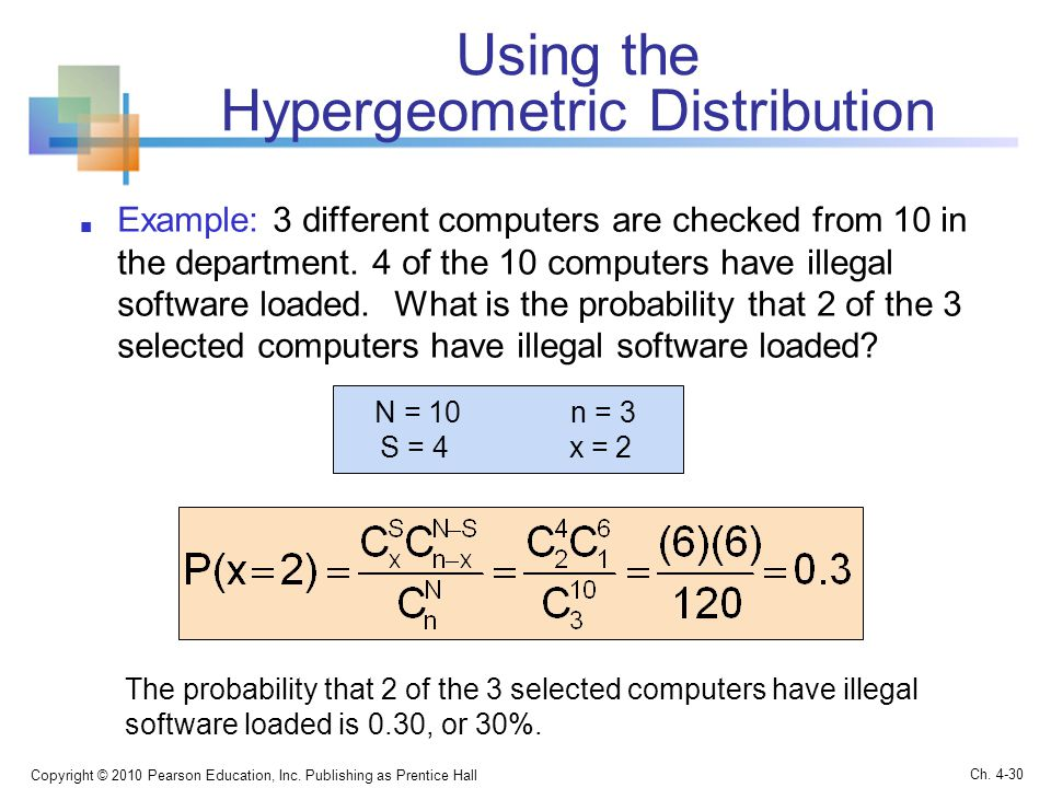 Using the Hypergeometric Distribution