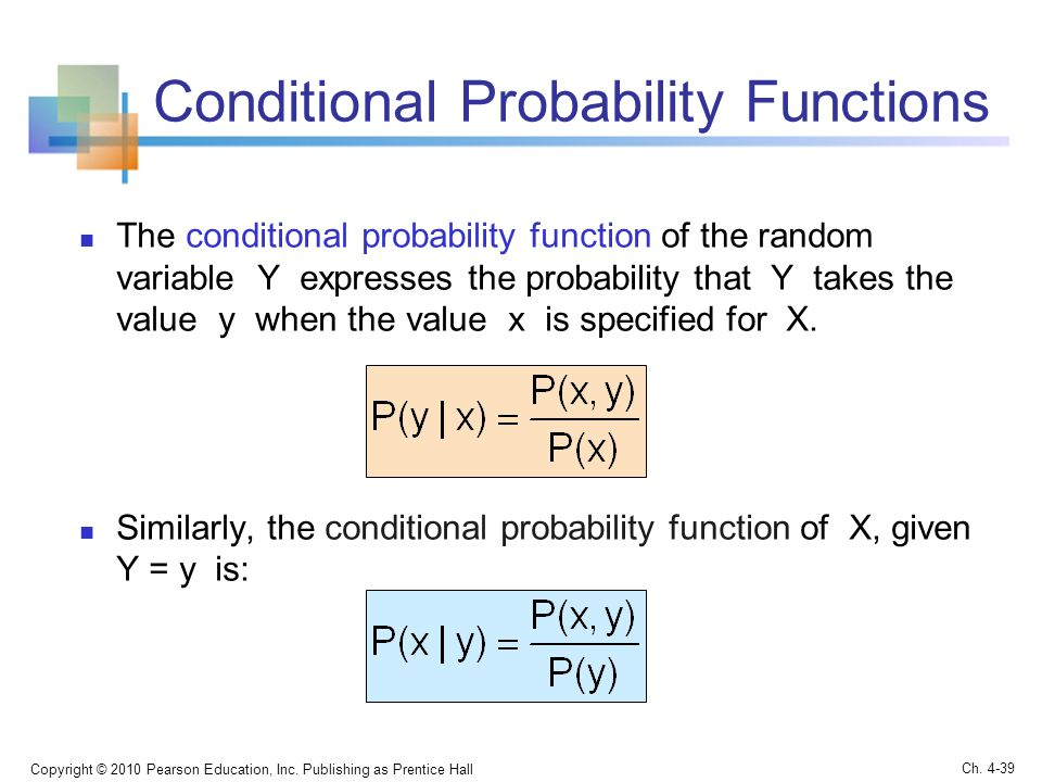 Conditional Probability Functions
