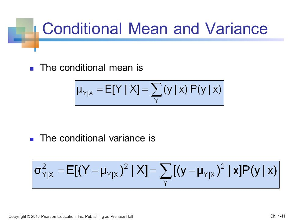 Conditional Mean and Variance
