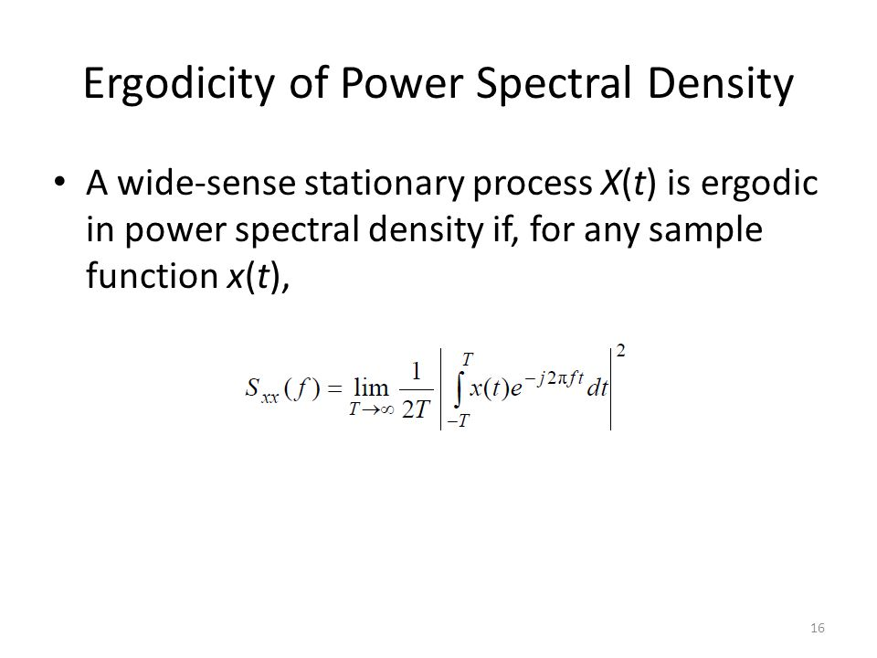 Ergodicity of Power Spectral Density
