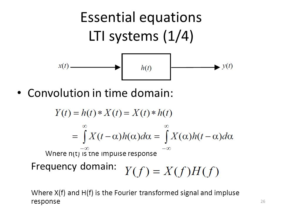 Essential equations LTI systems (1/4)