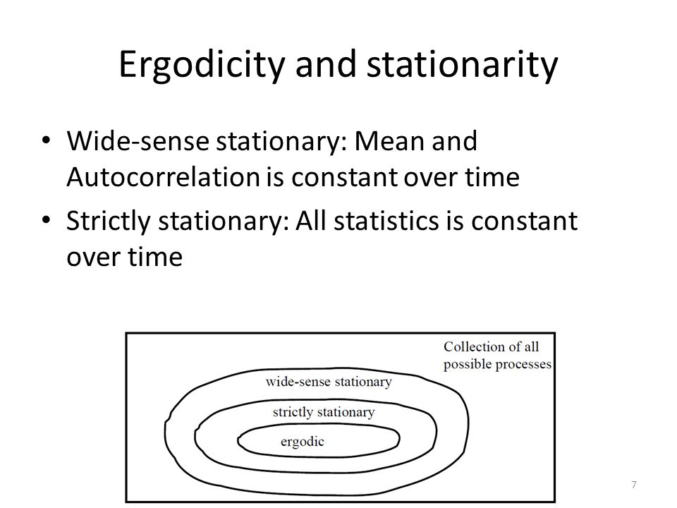Ergodicity and stationarity