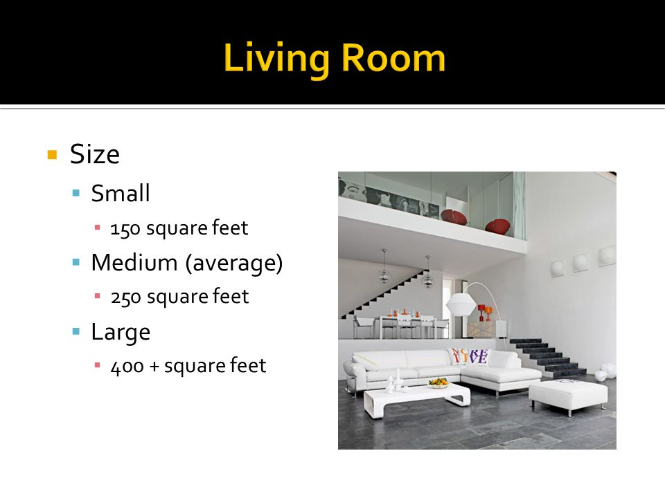Normal living room size average living room size in feet for Square footage of a room