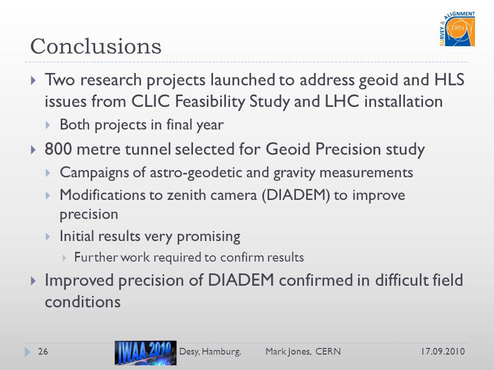 Clic Hamburg results from the clic geodetic studies ppt