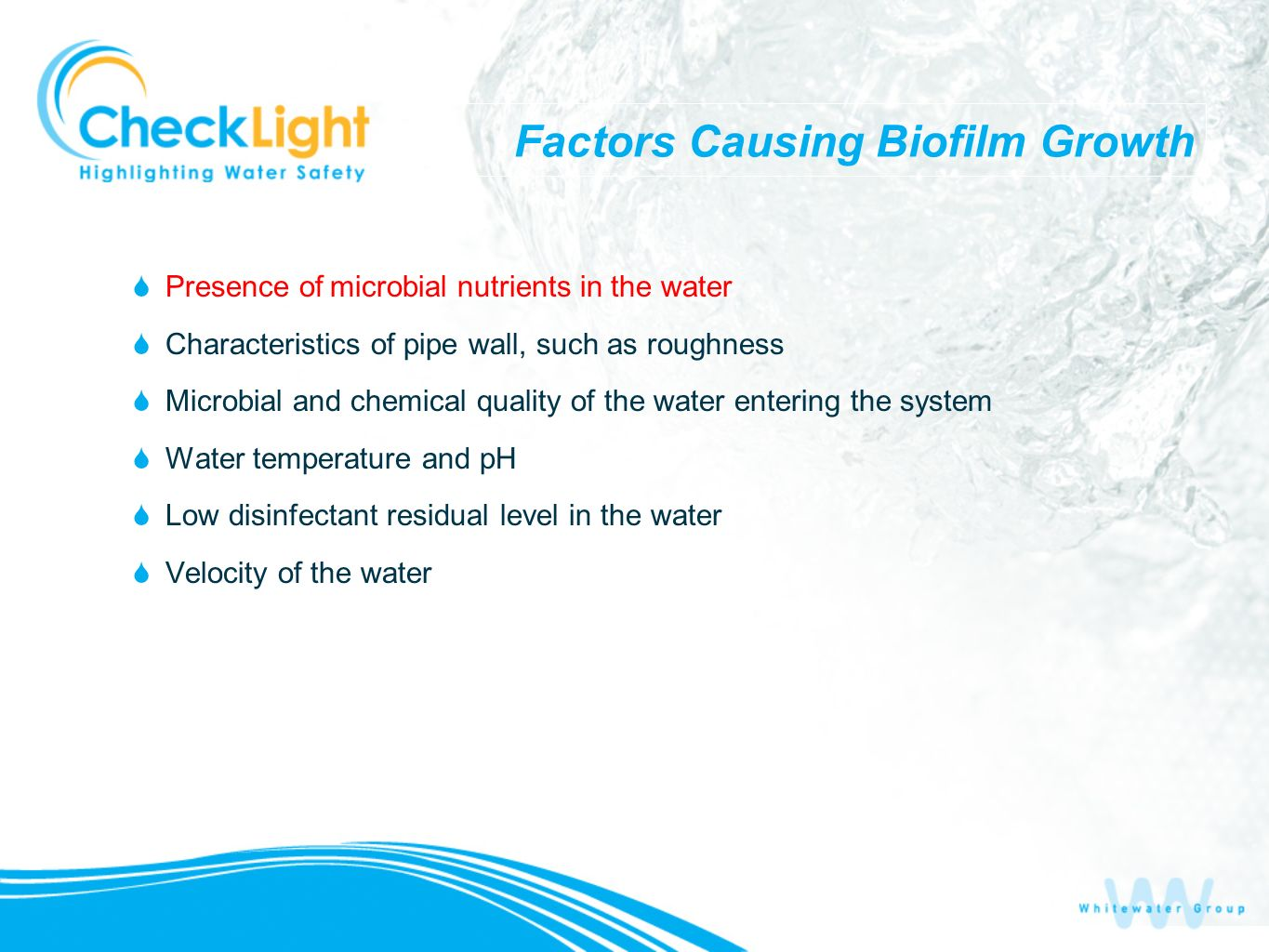 Factors Causing Biofilm Growth