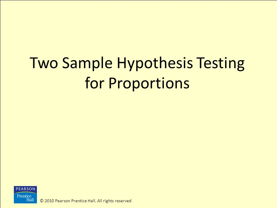 Two Sample Hypothesis Testing for Proportions