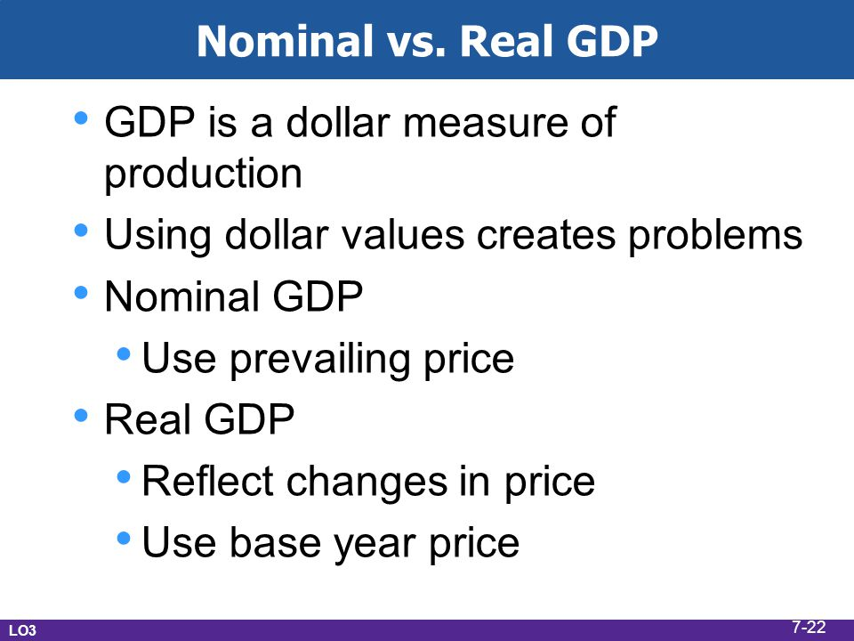GDP is a dollar measure of production