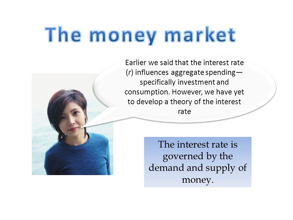 The interest rate is governed by the demand and supply of money.