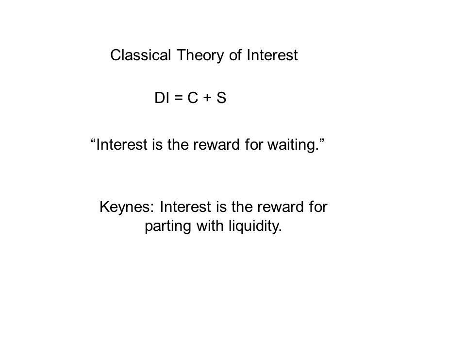 Classical Theory of Interest