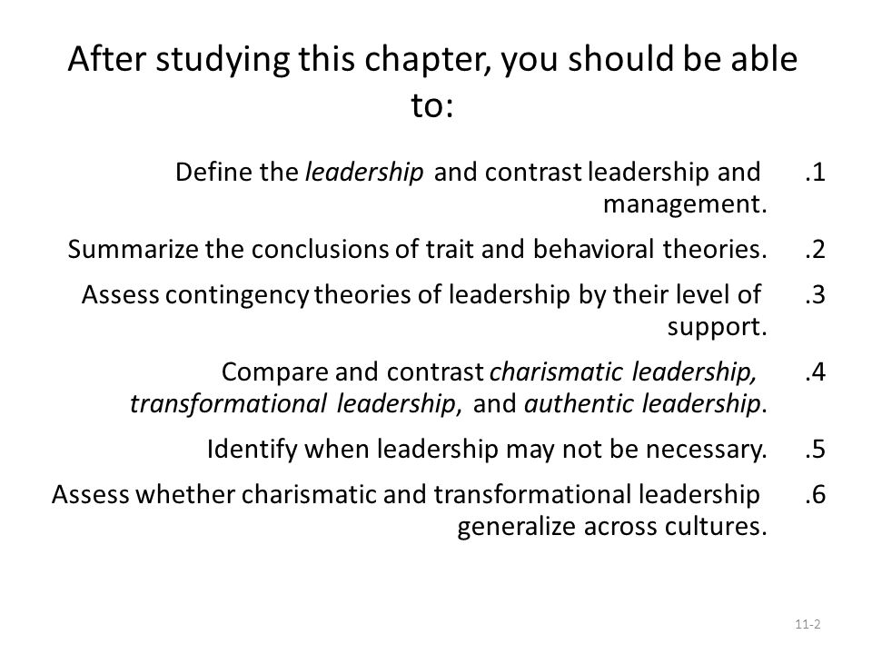 compare and contrast the leadership theories in Charismatic vs transformational from  this is in contrast to the charismatic  the picture that emerges across numerous leadership theories and research is.