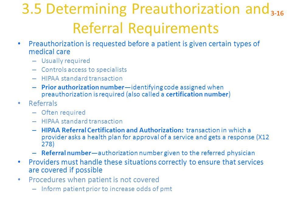 3.5 Determining Preauthorization and Referral Requirements