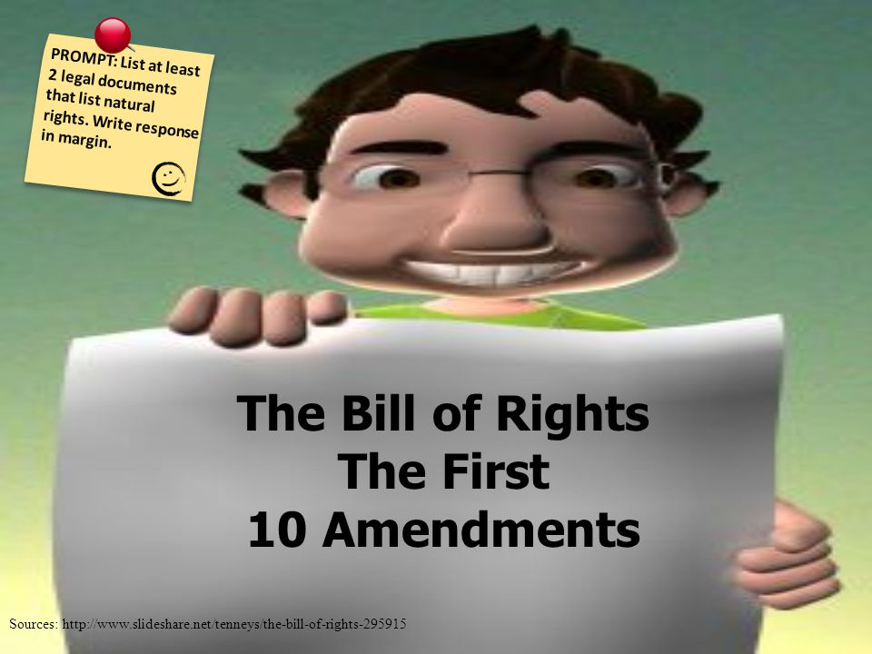 legality of the bill of rights On december 15, 1791, the bill of rights (the first ten amendments to the united states constitution) were ratified by the states the bill of rights were.