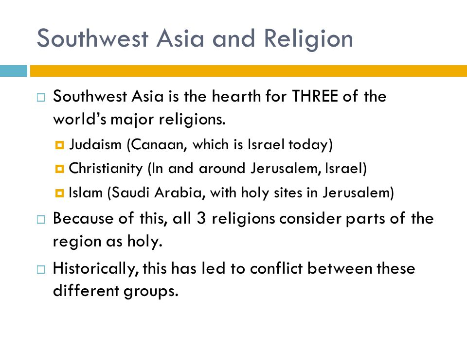 An analysis of the three major religions in the world today