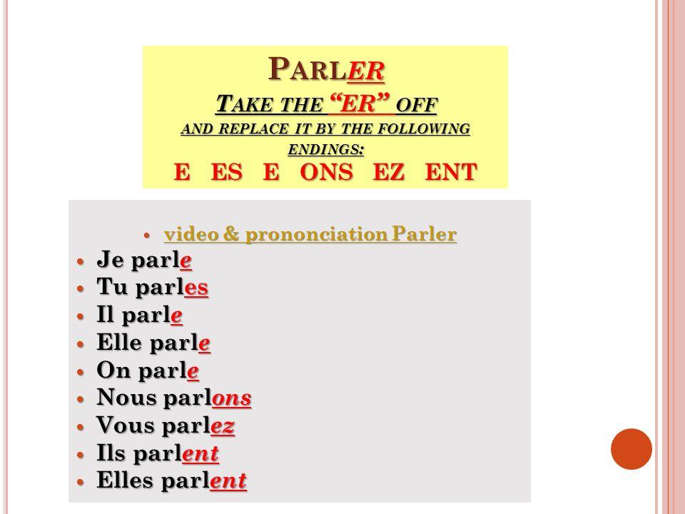 video & prononciation Parler