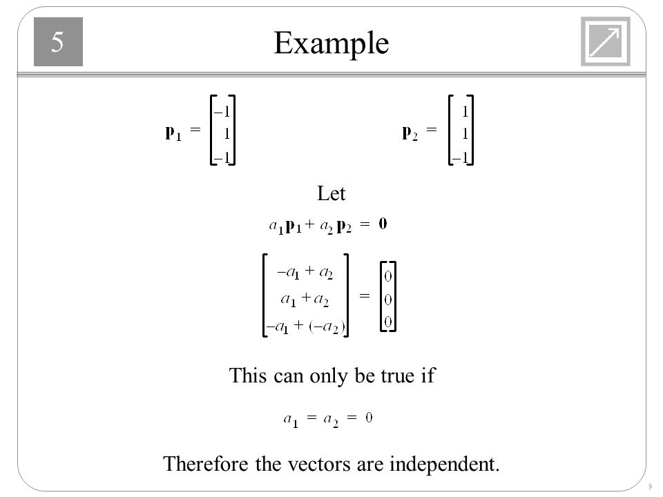 Therefore the vectors are independent.
