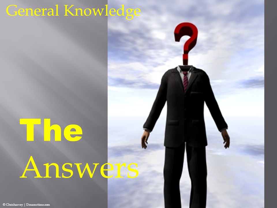 General Knowledge The Answers © Chrisharvey | Dreamstime.com