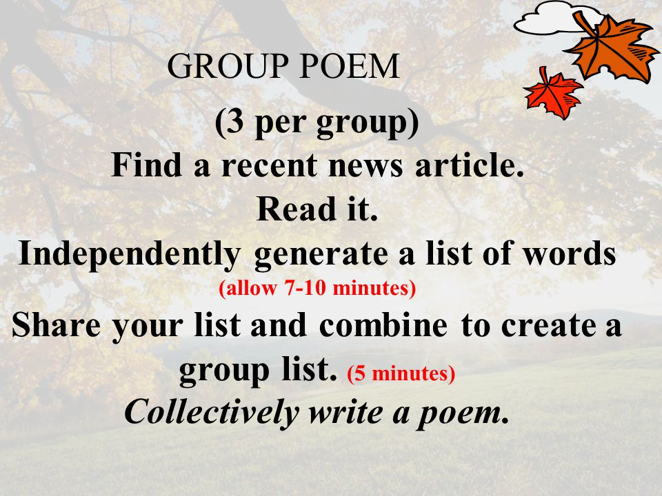 list of poetry group
