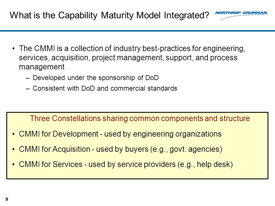 Process Improvement In The Aerospace Industry Cmmi And