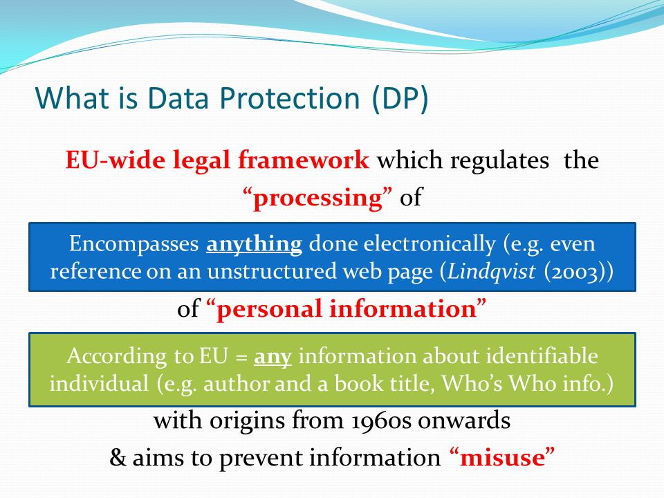 What is Data Protection (DP)