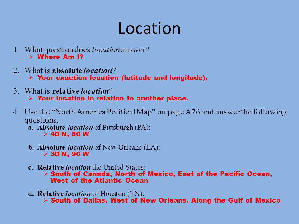 Part 1 five themes of geography ppt download 2 location sciox Choice Image